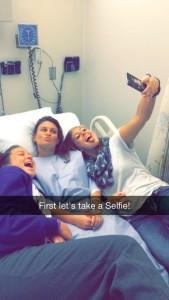 Crystal gets a Selfie in!