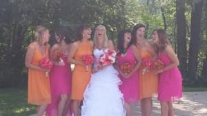 Amy & Shane's Wedding...(Standing Left to Right) Rachel, Crystal, Carla, Amy, Tiffany, Luci, Libby