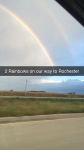 Our way to the Mayo Clinic in Rochester, MN