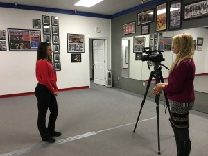 Crystal during her interview with KWWL.