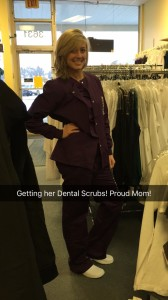 Courtney in her Dental Scrubs!