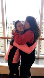 Crystal & Cassidy share a hug...
