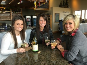 Courtney's 21st Birthday. Crystal has come to the winery a few times with her friends but has never had a drink because she has always been on Chemo. Not this time!