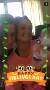 We sure do love SnapChat! Celebrating Sibling Day!