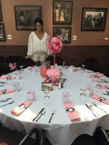 Crystal getting ready for her guests to arrive...